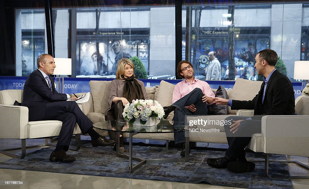 Matt Lauer, Martha Stewart, Dan Slater and Sam Yagan appear on NBC News' 'Today' show --