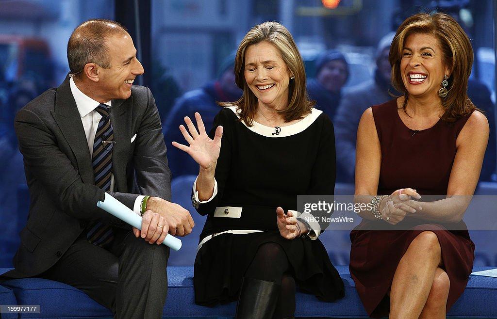 Matt Lauer, Meredith Vieira and Hoda Kotb appear on NBC News' 'Today' show --