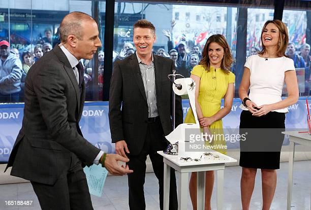 Matt Lauer Rich Ferguson Natalie Morales and Savannah Guthrie appear on NBC News' 'Today' show on April 1 2013