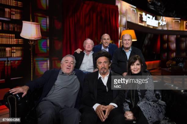 Matt Lauer Robert De Niro Al Pacino James Caan Robert Duvall and Talia Shire on Saturday April 29 2017