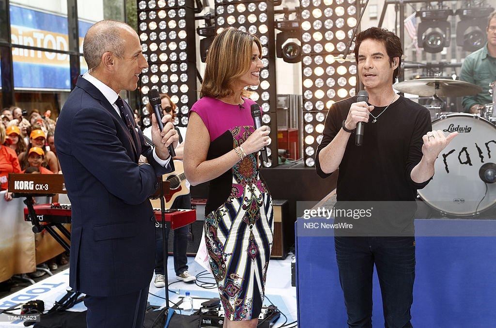 Matt Lauer, Savannah Guthrie and Pat Monahan appear on NBC News' 'Today' show --