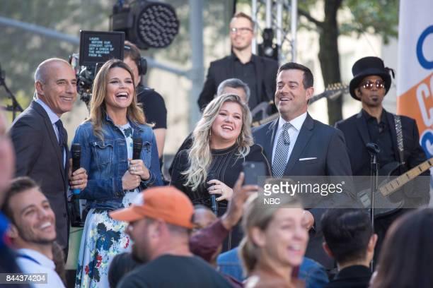 Matt Lauer Savannah Guthrie Kelly Clarkson and Carson Daly on Friday Sept 8 2017