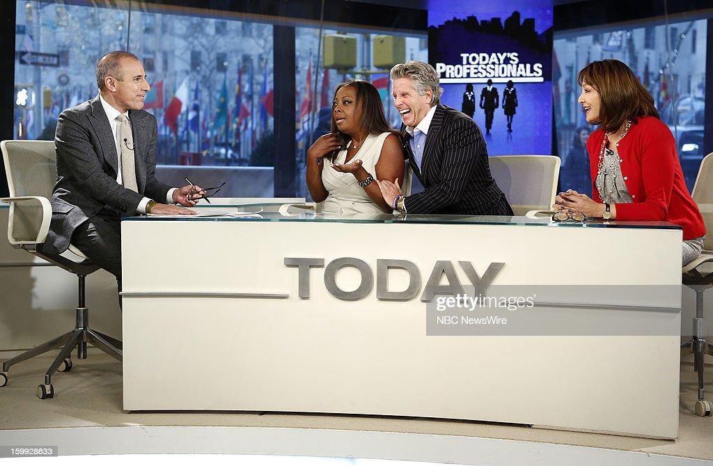 Matt Lauer, Star Jones, Donnie Deutsch and Dr. Nancy Snyderman appear on NBC News' 'Today' show --