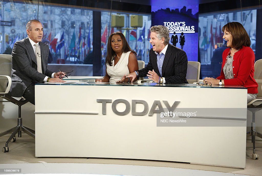 Matt Lauer, Star Jones, Donnie Deutsch and Dr. Nancy Snyderman appear on NBC News' 'Today' show --