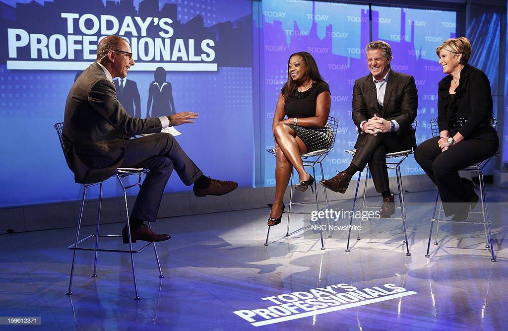 Matt Lauer, Star Jones, Donnie Deutsch and Suze Orman appear on NBC News' 'Today' show --
