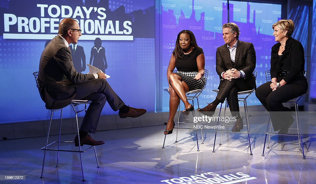 Matt Lauer, Star Jones, Donnie Deutsch and Suze Orman appear on NBC News' 'Today' show --