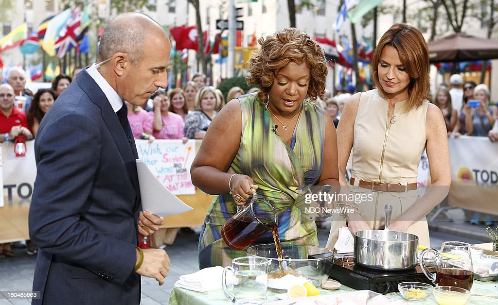 <a gi-track='captionPersonalityLinkClicked' href=/galleries/search?phrase=Matt+Lauer&family=editorial&specificpeople=206146 ng-click='$event.stopPropagation()'>Matt Lauer</a>, Sunny Anderson and <a gi-track='captionPersonalityLinkClicked' href=/galleries/search?phrase=Savannah+Guthrie&family=editorial&specificpeople=653313 ng-click='$event.stopPropagation()'>Savannah Guthrie</a> appear on NBC News' 'Today' show --