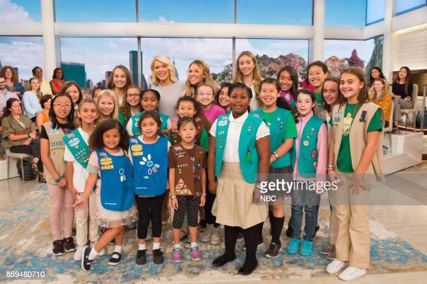 Megyn Kelly and Rachel Platten with Girl Scouts on Friday October 6 2017