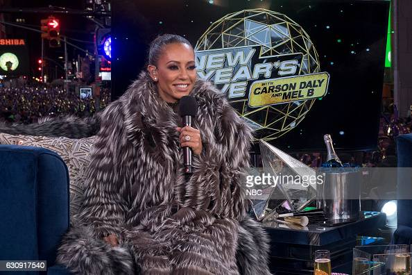 NBC'S NEW YEARS EVE WITH CARSON DALY Pictured Mel B during NBC's New Years Eve with Carson Daly