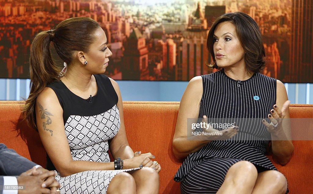 Melanie Brown (Mel B) and Mariska Hargitay appear on NBC News' 'Today' show --