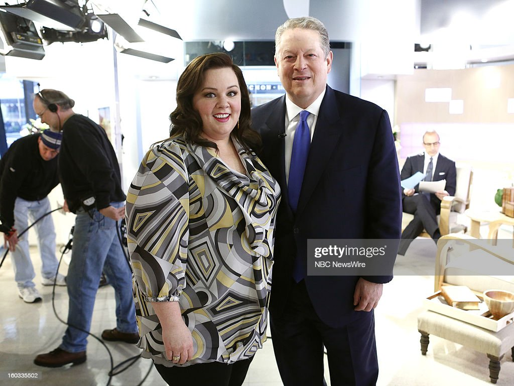 <a gi-track='captionPersonalityLinkClicked' href=/galleries/search?phrase=Melissa+McCarthy&family=editorial&specificpeople=880291 ng-click='$event.stopPropagation()'>Melissa McCarthy</a> and <a gi-track='captionPersonalityLinkClicked' href=/galleries/search?phrase=Al+Gore&family=editorial&specificpeople=119691 ng-click='$event.stopPropagation()'>Al Gore</a> appear on NBC News' 'Today' show --