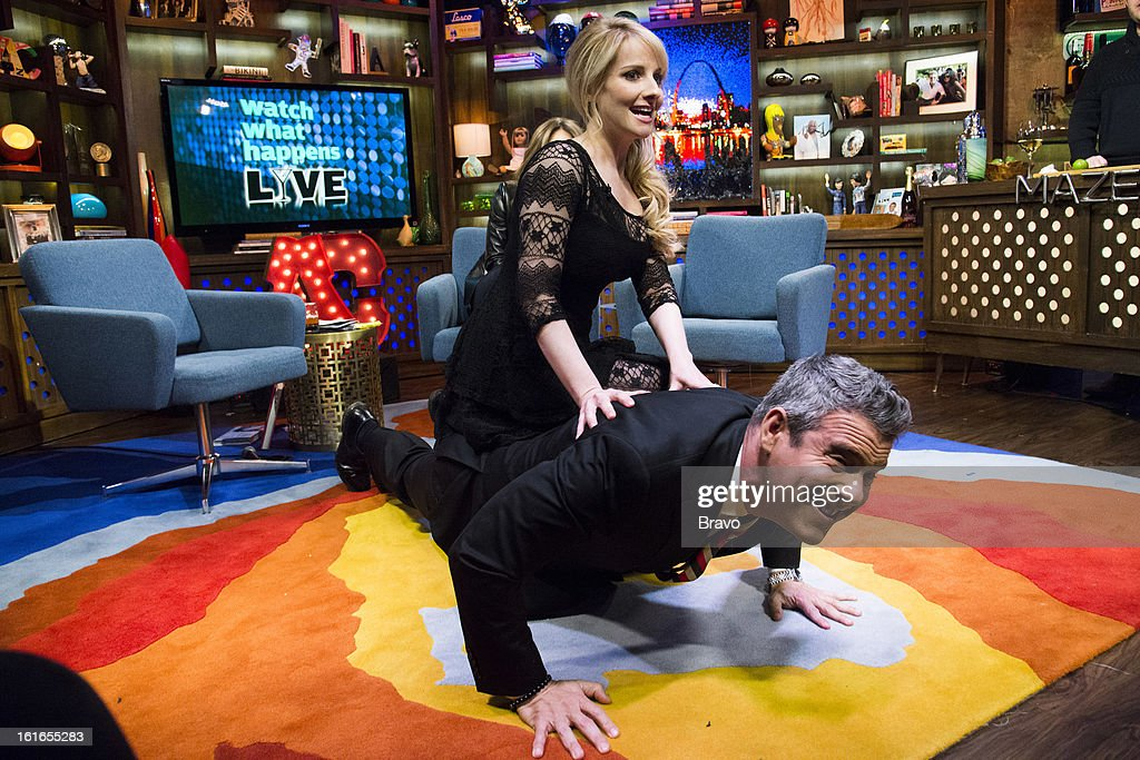 Melissa Rauch and Andy Cohen -- Photo by: Charles Sykes/Bravo/NBCU Photo Bank via Getty Images