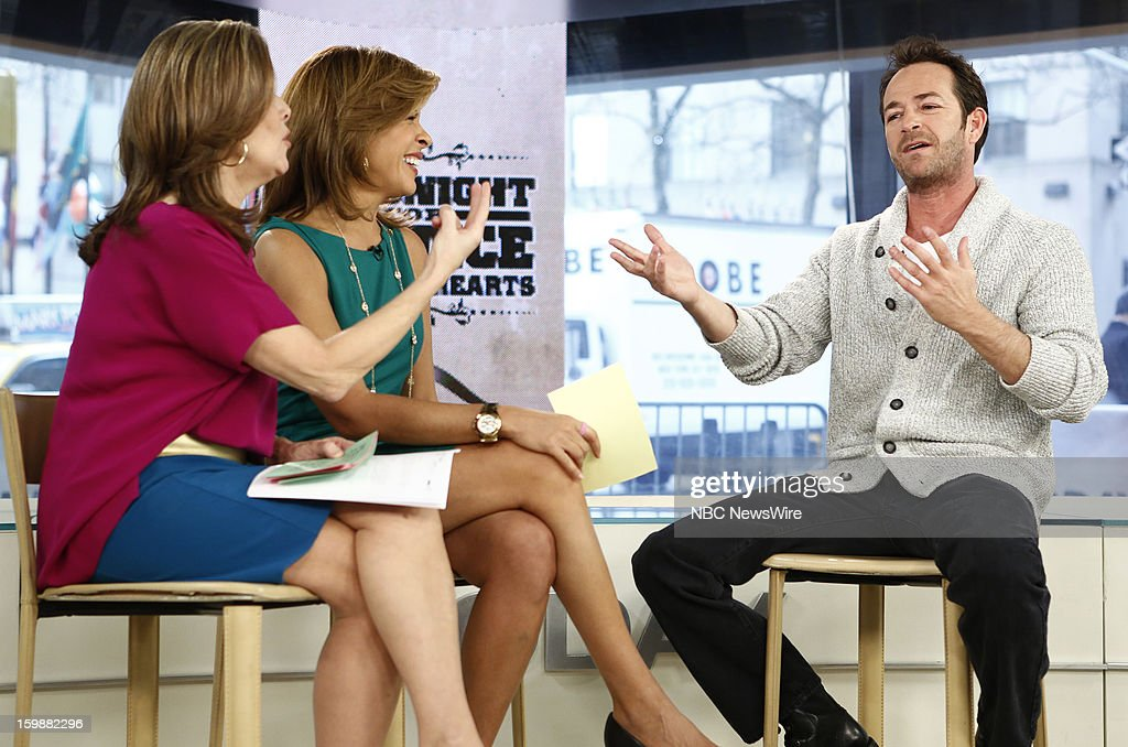 Meredith Vieira, Hoda Kotb and Luke Perry appear on NBC News' 'Today' show --