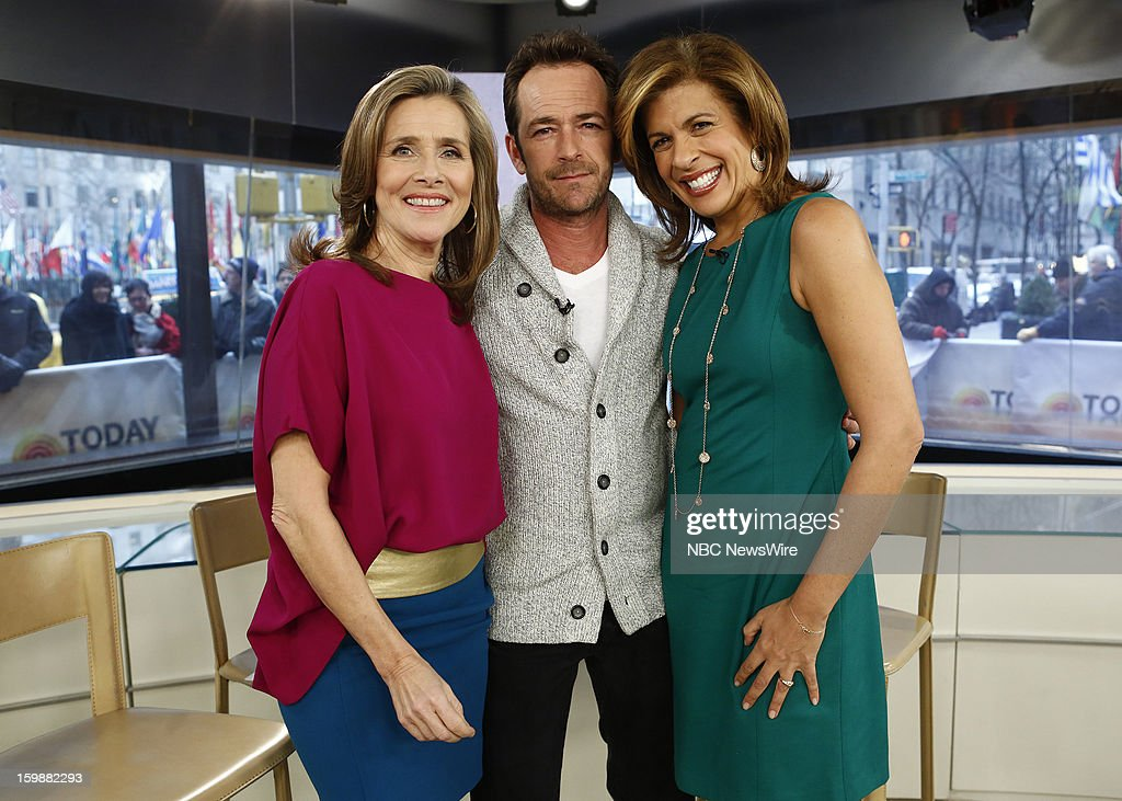 Meredith Vieira, Luke Perry and Hoda Kotb appear on NBC News' 'Today' show --