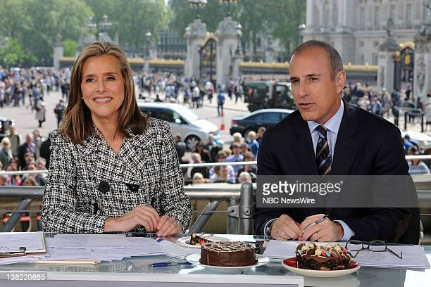 Meredith Vieira Matt Lauer The 'Today' show cohosts report live from London the day before the Royal Wedding