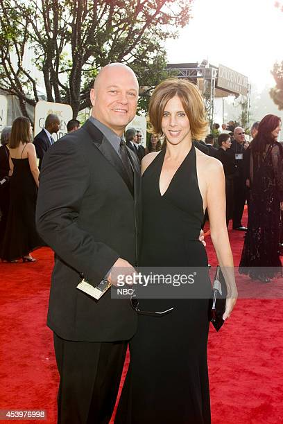 Michael Chiklis and Michelle Moran arrive at the 60th Annual Golden Globe Awards held at the Beverly Hilton Hotel on January 19 2003