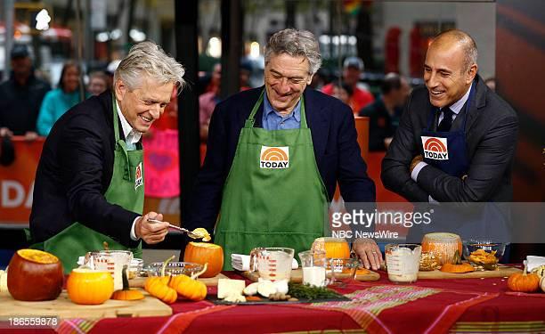 Michael Douglas Robert De Niro and Matt Lauer appear on NBC News' 'Today' show