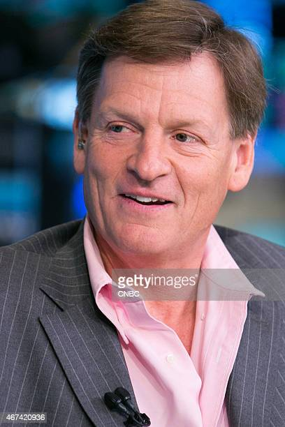 Michael Lewis bestselling author of 'Moneyball' and 'Flash Boys' in an interview at the NYSE on March 23 2015