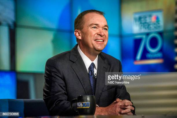 Mick Mulvaney Director of the Office of Management Budget appears on 'Meet the Press' in Washington DC Sunday Oct 8 2017