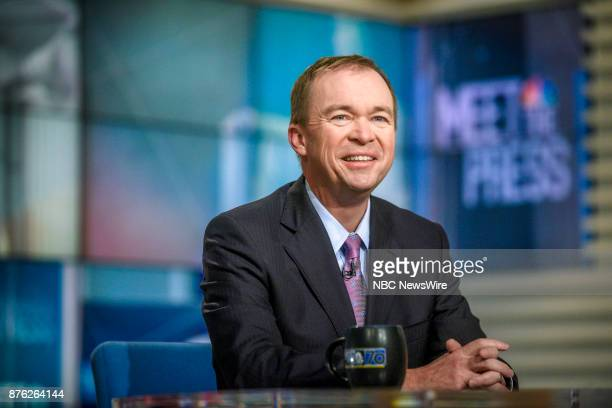 Mick Mulvaney Director Office of Management and Budget appears on 'Meet the Press' in Washington DC Sunday Nov 19 2017