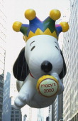 Millenium Snoopy balloon during the 2000 Macy's Thanksgiving Day Parade