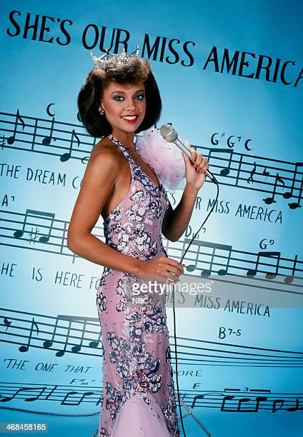 Miss New York Vanessa Williams winner of the 57th Miss America Pageant for 1984