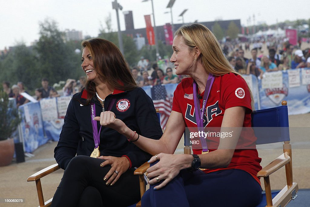 Misty Mae-Treanor, <a gi-track='captionPersonalityLinkClicked' href=/galleries/search?phrase=Kerri+Walsh&family=editorial&specificpeople=162761 ng-click='$event.stopPropagation()'>Kerri Walsh</a> Jennings on August 9, 2012 --