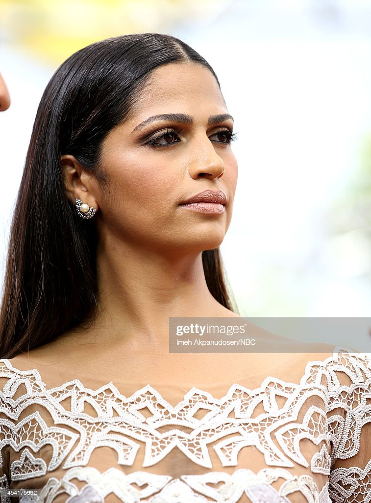 Model/designer Camila Alves visits E 'Live From The Red Carpet' at the 66th Annual Primetime Emmy Awards held at the Nokia Theater on August 25 2014