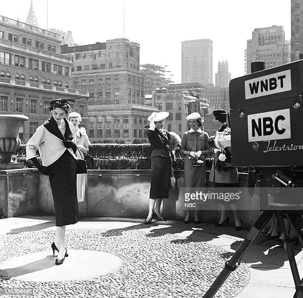 Models await taping during the fashion show and Easter parade in New York City New York on April 6 1953 Photo by NBCU Photo Bank