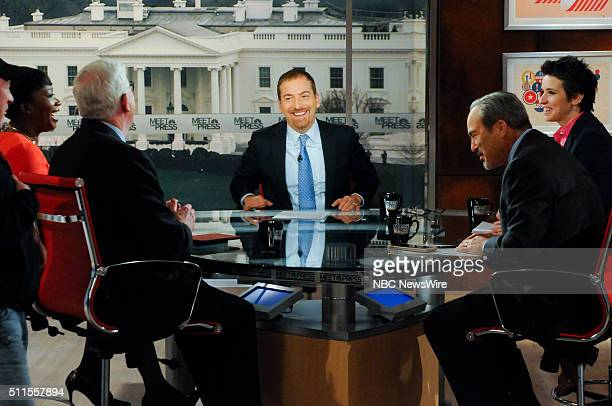 Moderator Chuck Todd appear on 'Meet the Press' in Washington DC Sunday Feb 21 2016