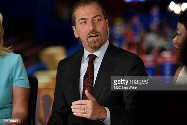 Moderator Chuck Todd appears on 'Meet the Press' in Cleveland OH Sunday July 17 2016