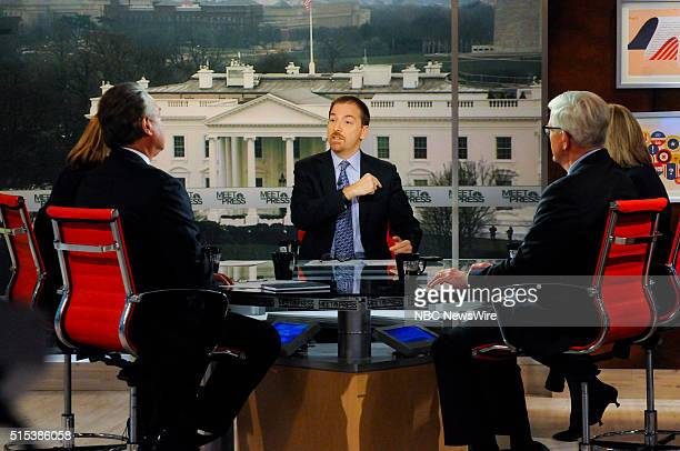 Moderator Chuck Todd appears on 'Meet the Press' in Washington DC Sunday March 13 2016