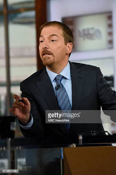 Moderator Chuck Todd appears on 'Meet the Press' in Washington DC Sunday April 24 2016