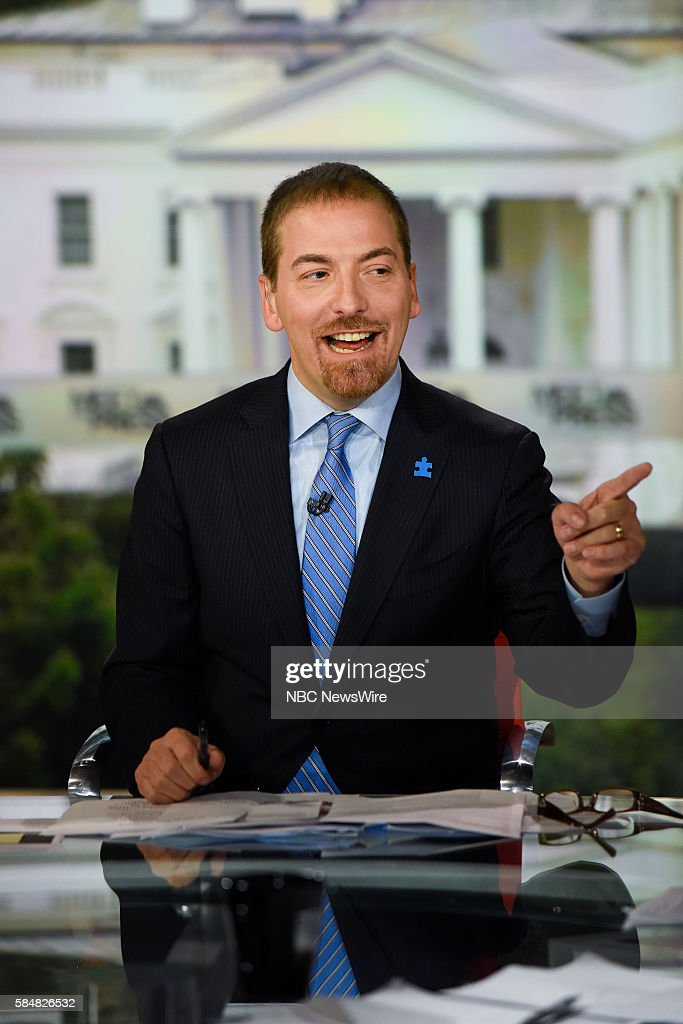 Moderator Chuck Todd appears on 'Meet the Press' in Washington DC Sunday July 31 2016
