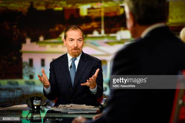Moderator Chuck Todd appears on 'Meet the Press' in Washington DC Saturday February 5 2017