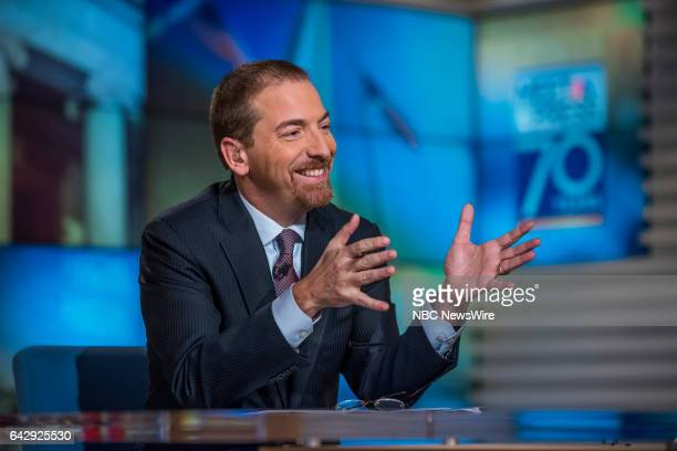 Moderator Chuck Todd appears on 'Meet the Press' in Washington DC Sunday February 19 2017