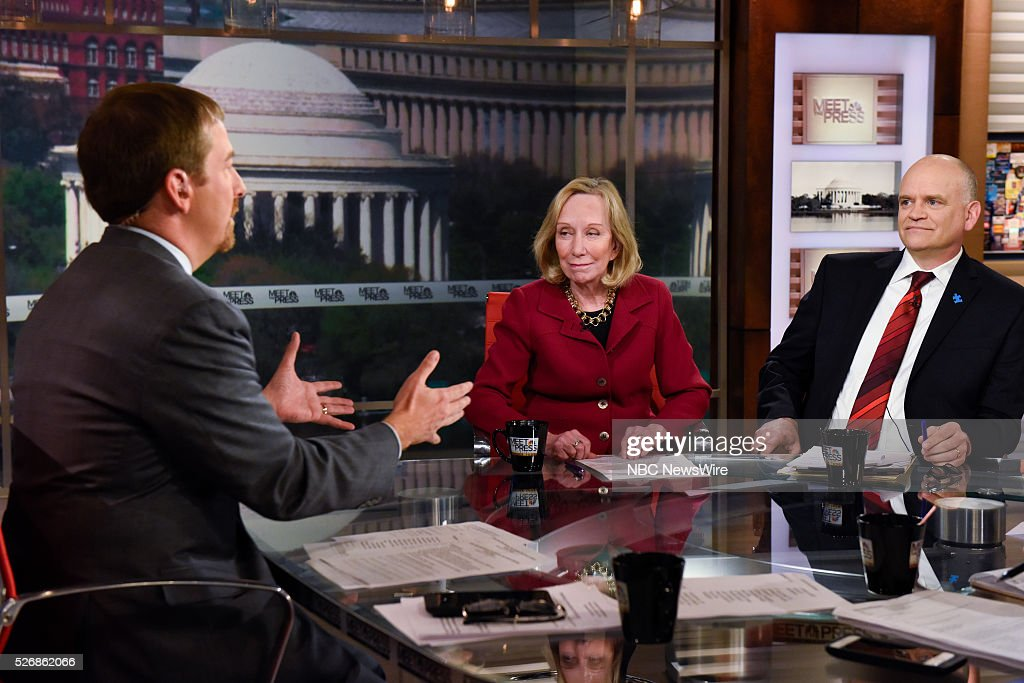 Moderator Chuck Todd, Doris Kearns Goodwin, American Biographer, and Ron Fournier, Senior Political Columnist, National Journal, appear on 'Meet the Press' in Washington, D.C., Sunday May 1, 2016.