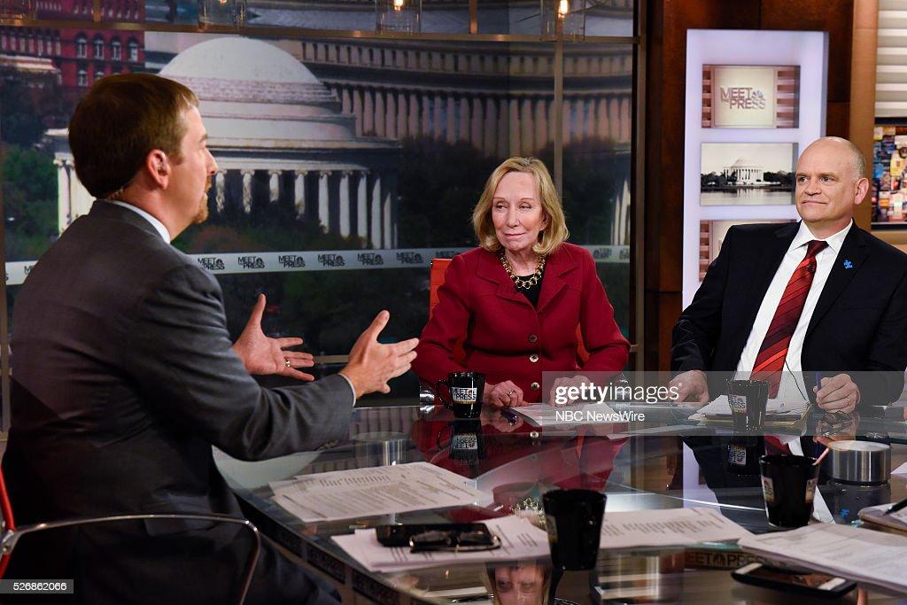 Moderator Chuck Todd, Doris Kearns Goodwin, American Biographer, and Ron Fournier, Senior Political Columnist, National Journal, appear on 'Meet the Press' in Washington, D.C., Sunday May 1, 2016.