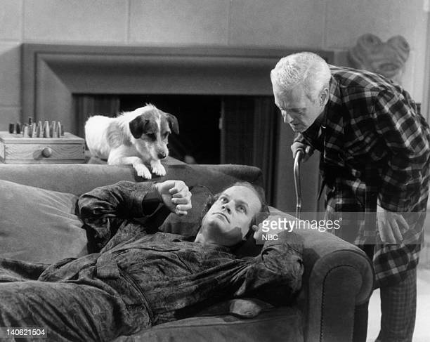 Moose as Eddie Kelsey Grammer as Doctor Frasier Crane John Mahoney as Martin Crane Photo by NBCU Photo Bank