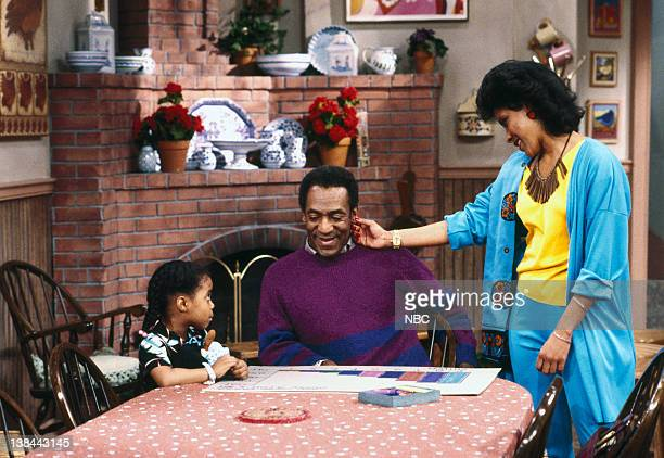 'Mr Quiet' Episode 23 Keshia Knight Pulliam as Rudy Huxtable Bill Cosby as Dr Heathcliff 'Cliff' Huxtable Phylicia Rashad as Clair Hanks Huxtable