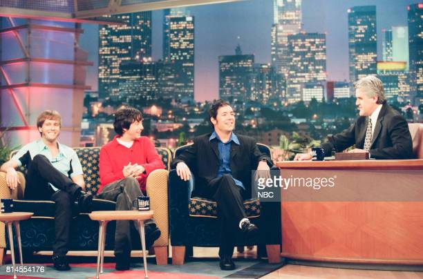 Musical group Fastball during an interview with host Jay Leno on May 21 1998