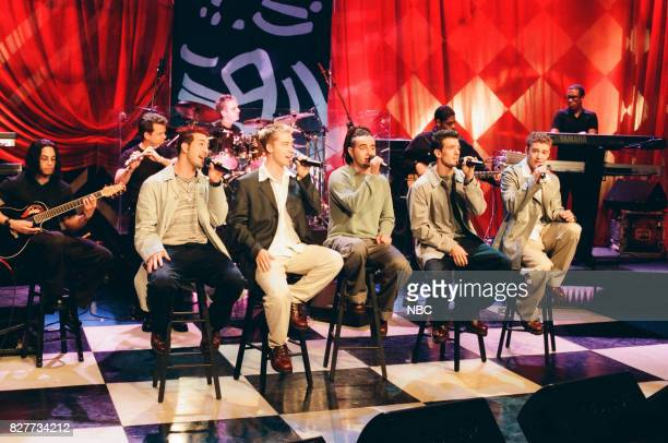 Musical group N'Sync performing on April 12 1999