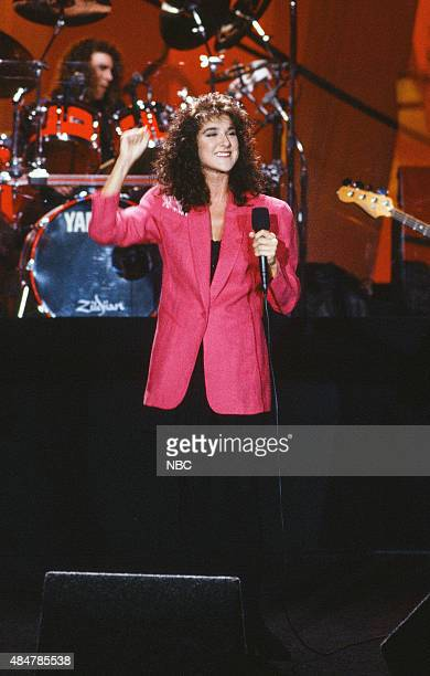 Musical guest Celine Dion performs on January 29 1991