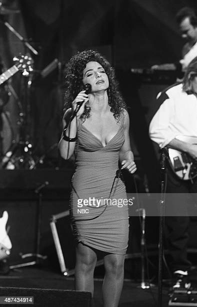 Musical guest Gloria Estefan performs on July 18 1991