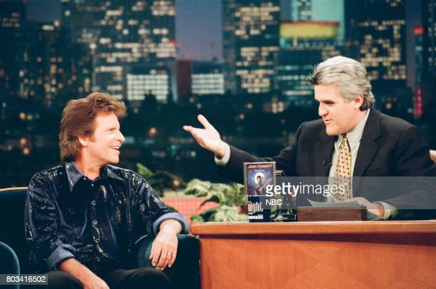 Musician John Fogerty during an interview with host Jay Leno on March 6 1998