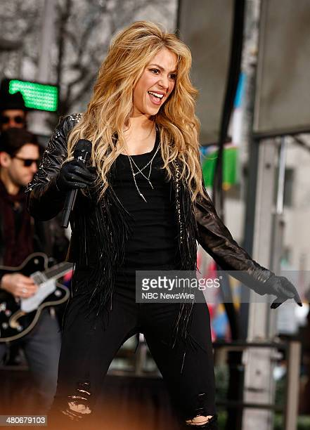 Musician Shakira appears on NBC News' 'Today' show on March 26 2014