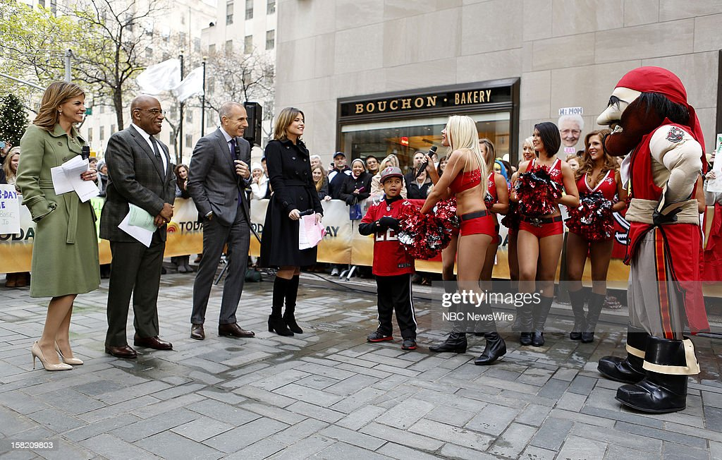 Natalie Morales, Al Roker, Matt Lauer, Savannah Guthrie and Christian Bottger appear on NBC News' 'Today' show --
