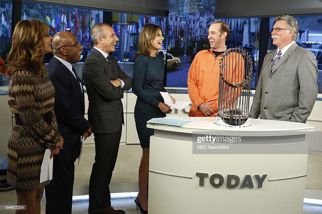 Natalie Morales, Al Roker, Matt Lauer, Savannah Guthrie, Kirk Rueter and Jack Morris appear on NBC News' 'Today' show --
