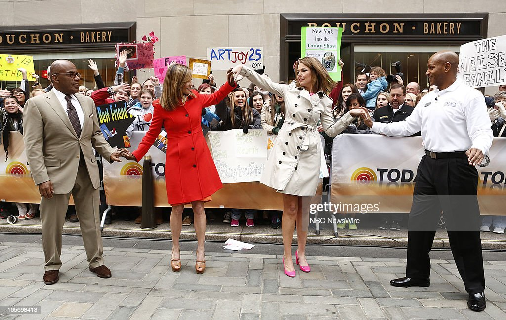 Natalie Morales, Al Roker, Savannah Guthrie and Shannon Sailes appear on NBC News' 'Today' show --