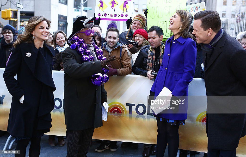 Natalie Morales, Al Roker, Savannah Guthrie and Willie Geist appear on NBC News' 'Today' show --